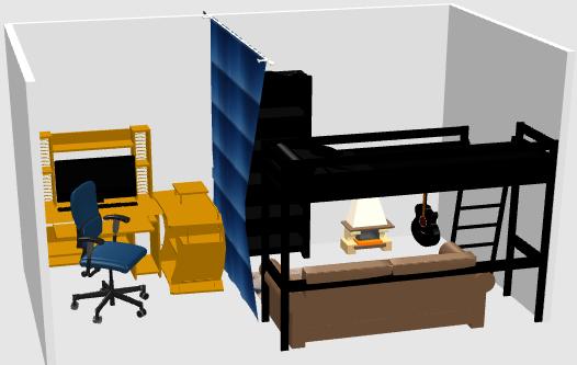 3Dソフトで簡易的に