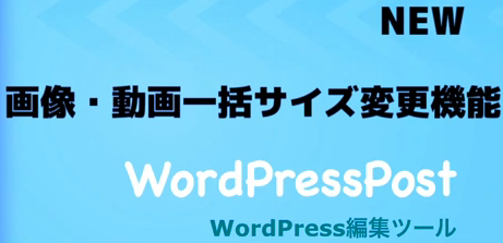 WordPressPostの画像・動画一括調整機能動画レビュー