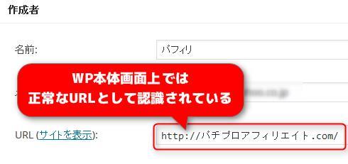 日本語ドメインの表示
