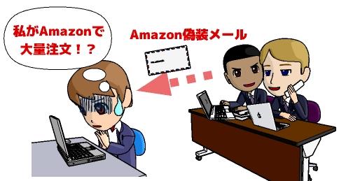 amazon偽装メール 騙される