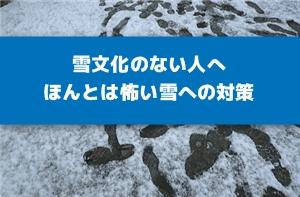 雪対策まとめ!冬の怖さは寒いだけじゃない