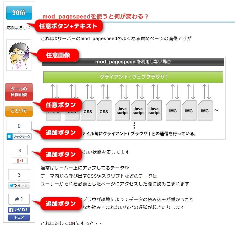 sharebar ボタン作成