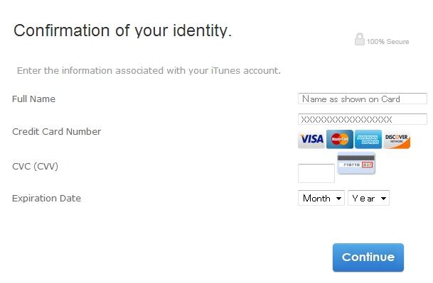 偽app;e クレジットカード