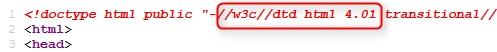偽apple html4.01