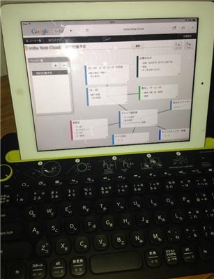 マルチデバイスキーボードを使ってipadからirohanotecloudにアクセス