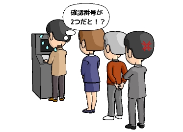 ATMでペイジー支払いの時の確認番号は利用者識別番号
