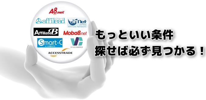 複数のASPから横断検索&ツール上で広告提携