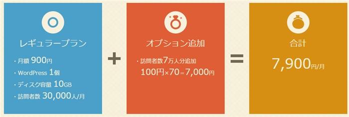 1000人ごとに+100円の追加料金