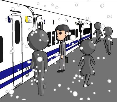 2016年の初夢は新幹線の駅のホームで・・