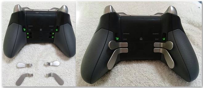Xbox One Eliteコントローラーの裏側にバドルシフトのボタンを4つ追加できる