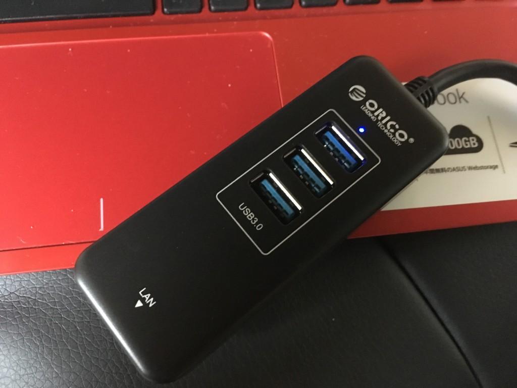 USBLANポート+3ポートギガビットHUBアダプター購入レビュー