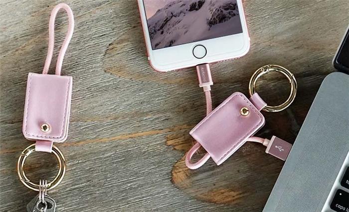Appleデバイスと接続できる2イン1 ライトニング USBケーブル キーホルダー付きレビュー