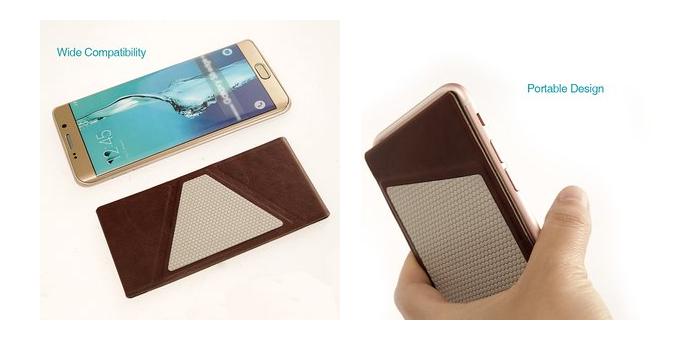 スマートフォンサイズに折りたためる携帯ホルダー