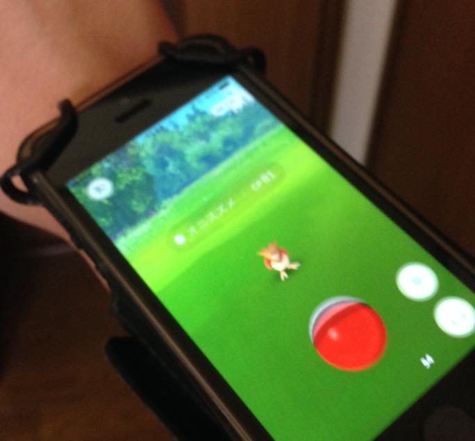 スマートフォン用アームバンドでポケモンGO!