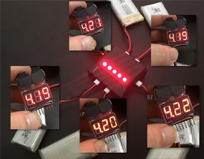 過充電防止機能 リポバッテリー充電器 電圧チェックで平均4.2v
