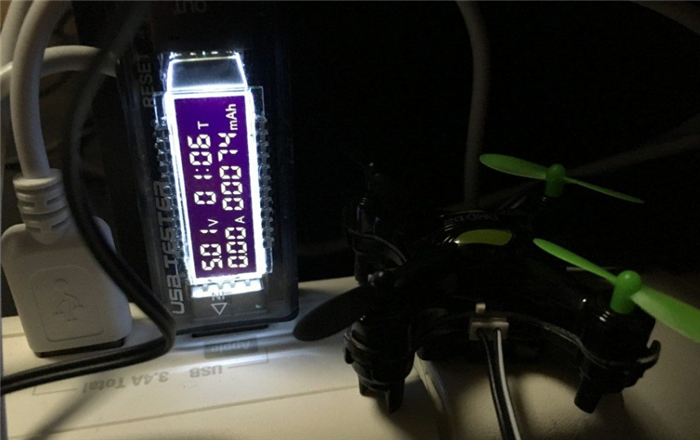GoolRC DHD D2 ミニドローン バッテリー充電時間