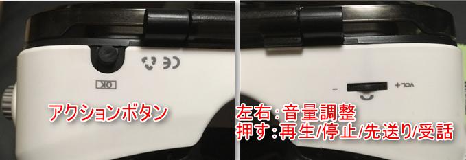 LUPHIE 3DVRゴーグル ボタン/音量調整