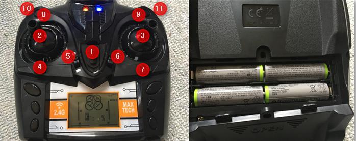 TK110HW コントローラー 操作方法