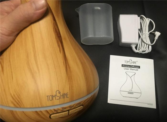 TOMSHINE 超音波式アロマディフューザー加湿器