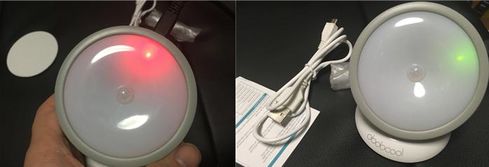 LEDライト マイクロUSBで充電可能