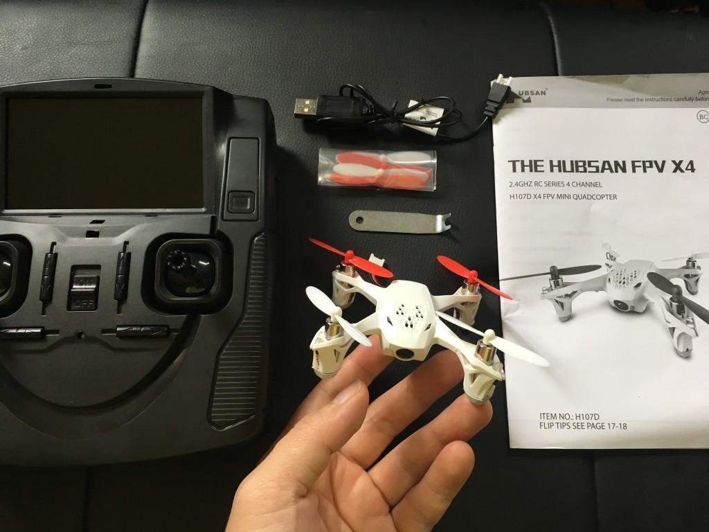 HUBSAN X4 H107D 飛行レビュー ミニドローンでこの安定感はやばい!