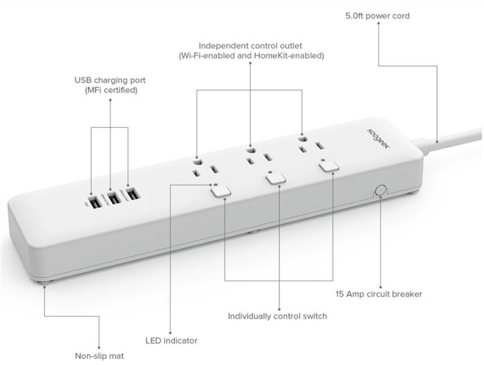 Koogeek MFi Certified Smart Outlet for Apple HomeKit - US Plug