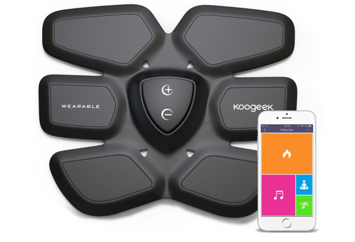 Koogeek Smart Fitness Gear Fat Burning for Abdomen Fit Training with Wireless Charging Pad