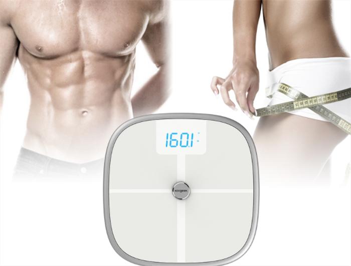 Koogeek Smart Health Scale Bluetooth WiFi Sync Measures Muscle Bone Mass BMI BMR