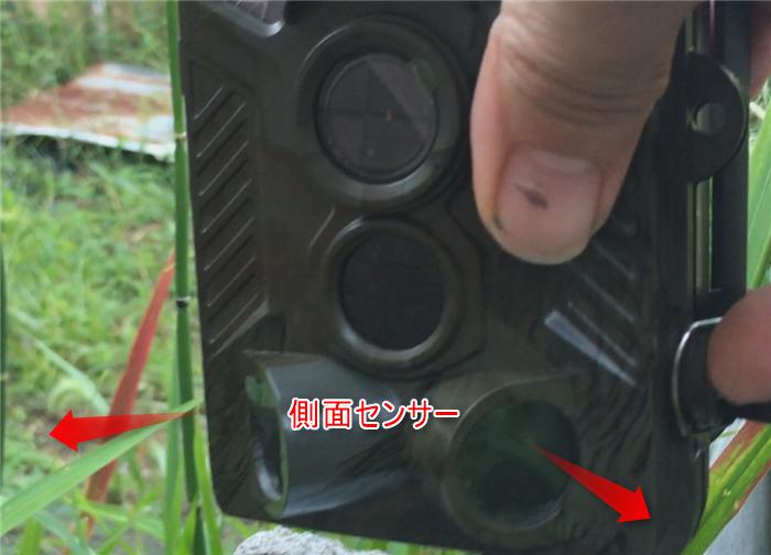 側面センサー 動体検知