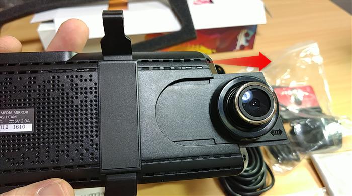 auto-vox-x1 カメラ位置がミラーに干渉しない