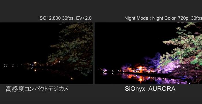 SiOnyx AURORA 夜景撮影